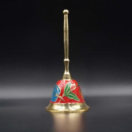 Колокольчик эмаль, латунь 14*6,5 см