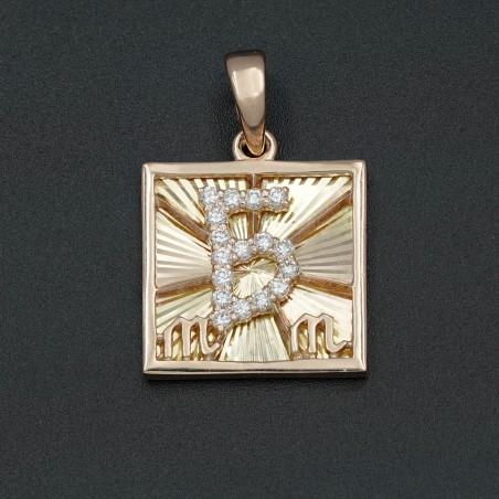 Талисман №13 с алмазной огранкой и бриллиантами