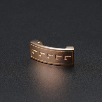 Золотой символ-подвеска на браслет №7
