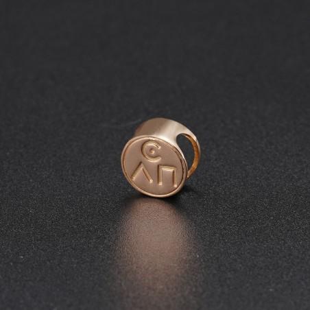 Золотой символ-подвеска №1