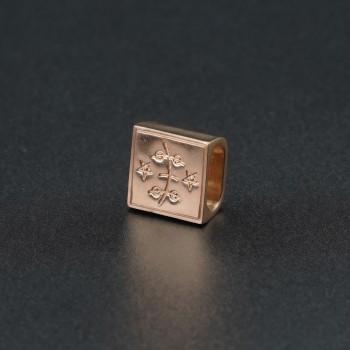 Золотой символ-подвеска на браслет №3
