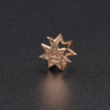 Золотой символ-подвеска на браслет №9
