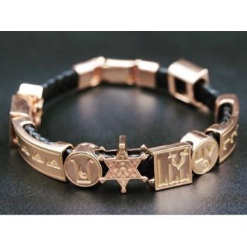 Браслет DUIKO золото (полный комплект-все символы) натуральная кожа