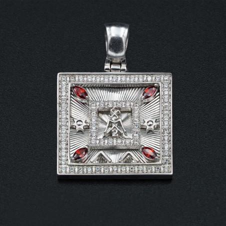 Ловушка для денег  с алмазной огранкой в серебре