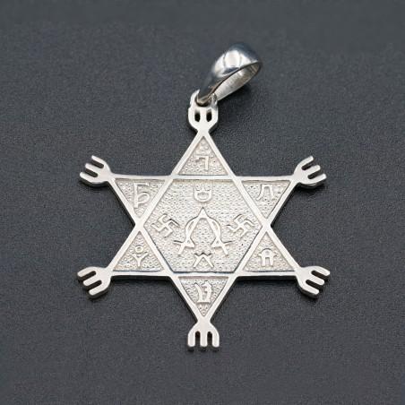 Серебряная звезда 6-ти конечная № 10