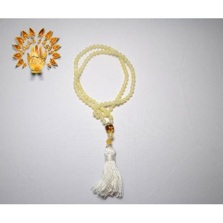 Четки янтарные, натуральные, профессиональные, 108 бусин №31