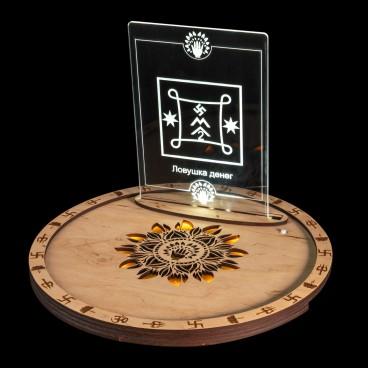 Алтарный поднос DUIKO из дерева с символом светлый